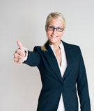 Victorious business woman. Stock Photo