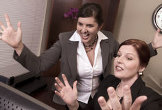 Victorious Business Women! Royalty Free Stock Photography
