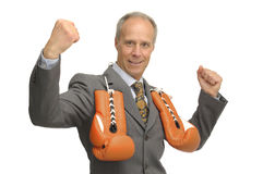 Victorious Businessman Stock Photo