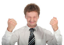 Victorious Businessman Royalty Free Stock Image