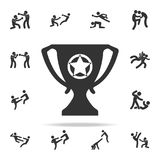 Victorious cup icon. Set of Cfight and sparring element icons. Premium quality graphic design. Signs and symbols collection icon f. Or websites, web design Royalty Free Stock Image