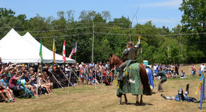 Victorious jouster stock images