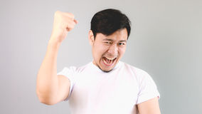Victorious man. Stock Photography