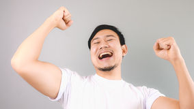 Victorious man. Stock Images