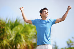 Victorious teenager Stock Image