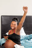 Victorious Woman Ready for Labor Stock Photo