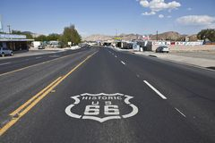 Victorville Route 66. VICTORVILLE CALIFORNIA - OCTOBER 15:  The old town business district battles tough economic times by using its Route 66 heritage to attract Stock Images