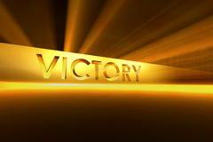 VICTORY. Sign on the yellow light background Royalty Free Stock Photo