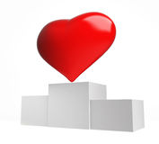 Victory. Heart winner on a white background Stock Images