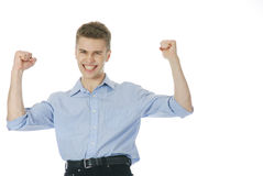 Victory again! Royalty Free Stock Photography
