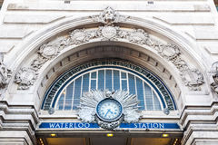 The Victory Arch Above The Entrance to Waterloo Station stock photo