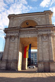 Victory Arch in Chisinau in the evening Stock Photo