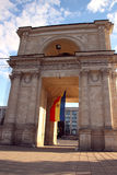 Victory Arch in Chisinau in the evening Royalty Free Stock Photo