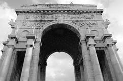 Victory Arch i Genua - Genoa Landmarks royaltyfria foton