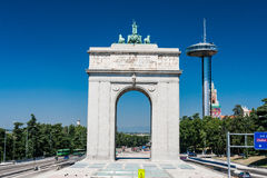 The victory Arch in Madrid, Spain Royalty Free Stock Images