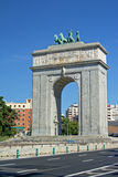 Victory arch, Madrid Stock Photos