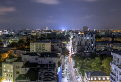 Victory Avenue from Bucharest. stock photo