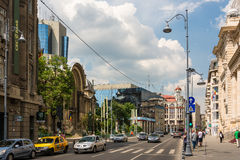 Victory Avenue In Bucharest Royalty Free Stock Image