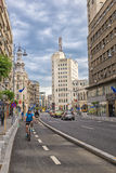 Victory Avenue (Calea Victoriei), famous street of Bucharest, Ro Royalty Free Stock Image