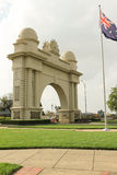 Victory Ballarat的曲拱(1920)是纪念品给Ballarat和区的返回的服务男人和妇女 免版税图库摄影