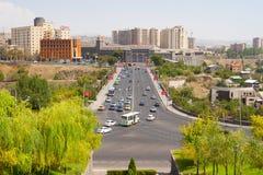 Victory bridge, Yerevan. Traffic on Victory Bridge, Yerevan, Armenia Stock Images