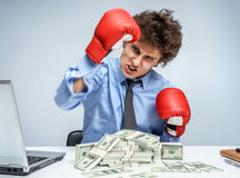 Victory in business Royalty Free Stock Photo
