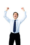 Victory business man Royalty Free Stock Photography