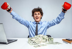 Victory in business Royalty Free Stock Photos
