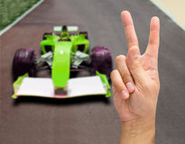 Victory on the car circuit Royalty Free Stock Photography