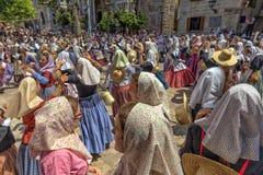 Victory Celebration en amarra y el festival de los cristianos - fiesta de Moros y Cristianos, Soller, Mallorca Fotos de archivo libres de regalías