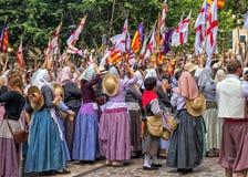 Victory Celebration an macht und am Christ-Festival - Fiesta Moros y Cristianos, Soller, Mallorca fest Stockbild