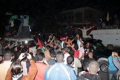 Victory celebrations in Gaza Stock Photos