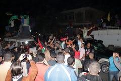 Victory celebrations in Gaza stock photos
