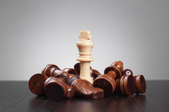 Victory chess conception Royalty Free Stock Images