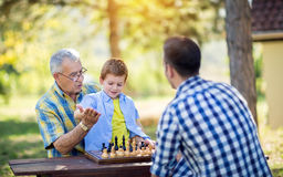 Victory in chess game Royalty Free Stock Photography