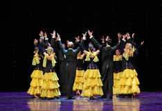 Victory circle-The French Cancan-the Austria's world Dance Royalty Free Stock Photography