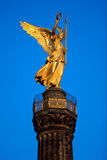 Victory Column Berlin. Historic golden statue Royalty Free Stock Image