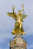 Victory Column Berlin. Golden statue on top of the victory column in Berlin, Germany Stock Photos