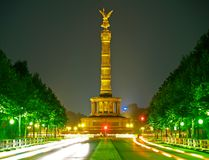 Victory Column in Berlin. The Victory Column in Berlin at night Royalty Free Stock Photography