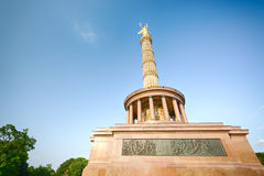 The Victory Column in Berlin and blue sky Royalty Free Stock Photos