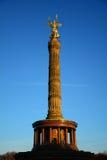 Victory Column in Berlin. In blue sky taken in December 2013 Stock Image