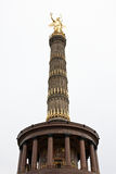 Victory Column. In Berlin on a cloudy sky Stock Image