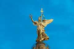 Angel of Berlin Victory Column, Siegessäule, Germany. Column in Berlin with victory statue. Tthe people from Berlin call the statue Goldelse. The figure is stock photos