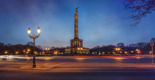 Victory Column Berlin in the evening Stock Image