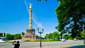 Victory column in Berlin, Germany stock video footage