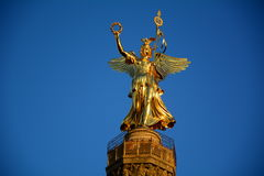 Victory column. In berlin, germany with blue sky Royalty Free Stock Photo