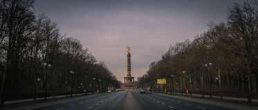 Victory Column in Berlin, Germany stock image