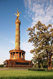 The Victory Column with golden Angel on top in Berlin Stock Image