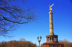 The Victory column Siegessauele in Berlin - Germany stock photography