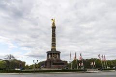 Victory Column Siegessaule i Berlin, Tyskland Arkivfoto
